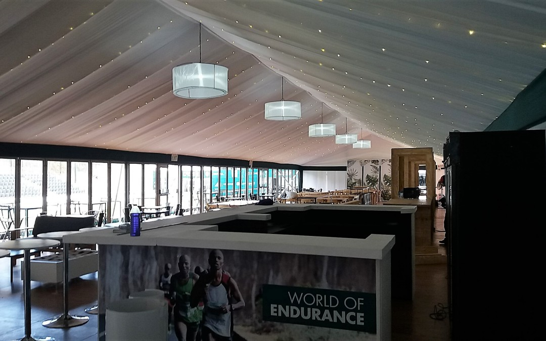 Marquee Draping at Two Oceans Marathon, Cape Town