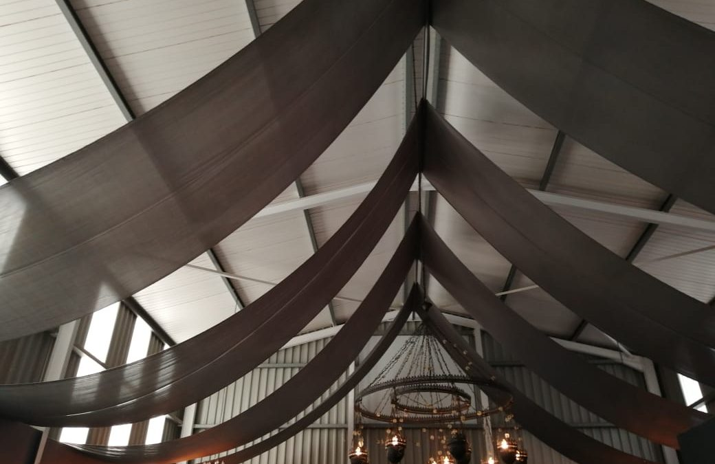 Permanent Strip Draping for Our Place at Anna Beulah Farm, Durbanville